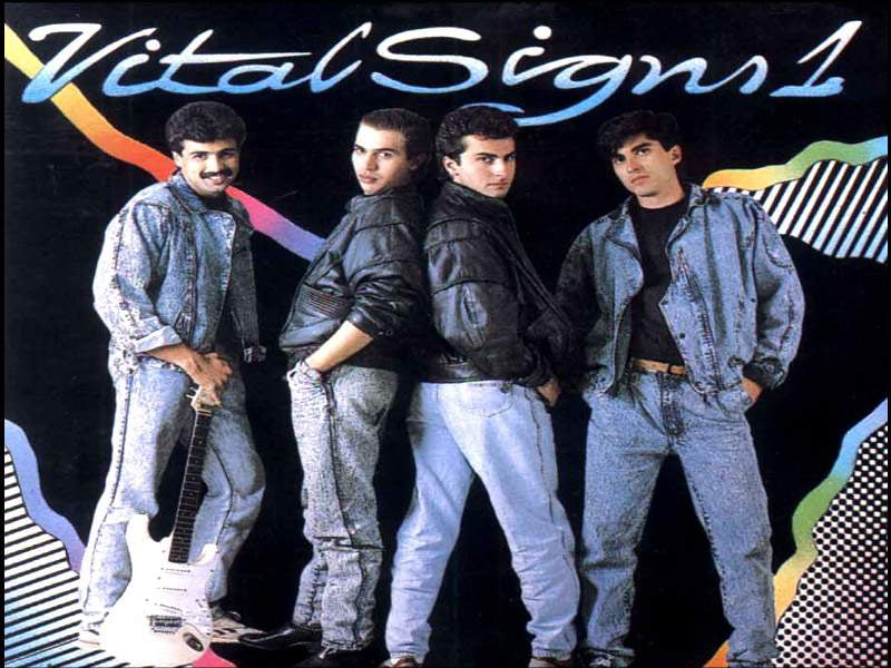 Cover of the first album by Pakistani pop band, Vital Signs (released in 1989). The success of the album kick-started a vibrant pop scene in the country that lasted well into the 1990s.