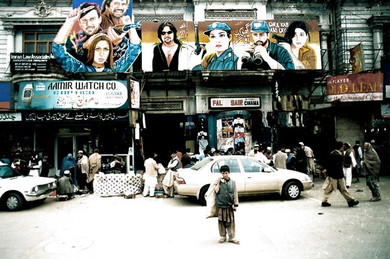 A crumbling cinema in Peshawar in 2001.