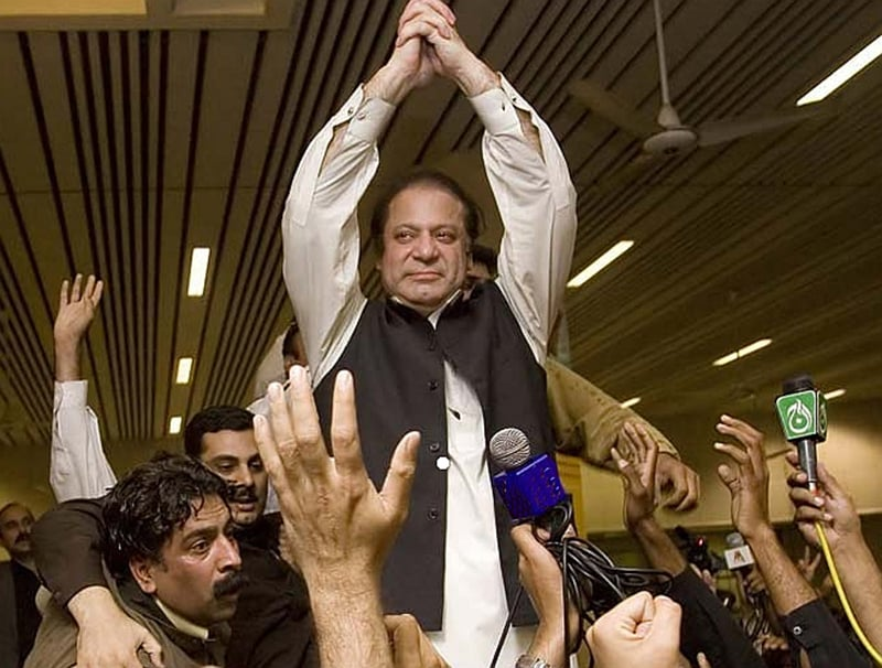 Nawaz Sharif returns to Pakistan in 2007 after he was flown into exile by the Musharraf regime.