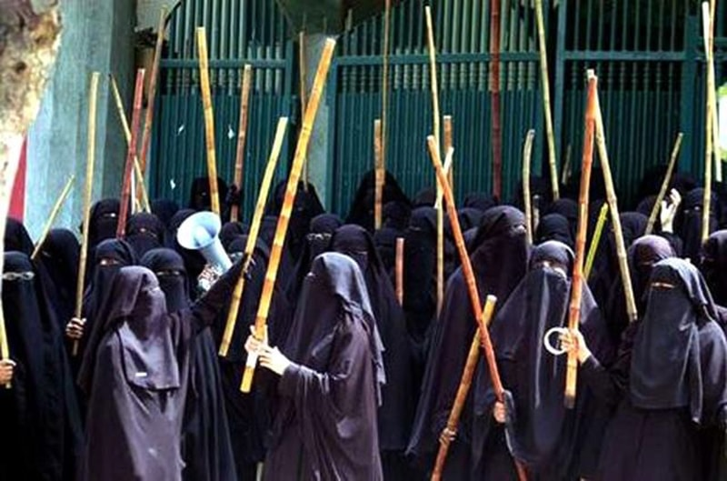 Women members of Islamabad's controversial Lal Masjid (2007).