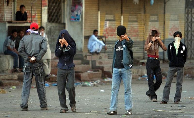 Gangsters in Karachi's poverty-stricken Lyari area (2012).