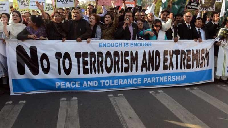 A rally against extremists in 2014.