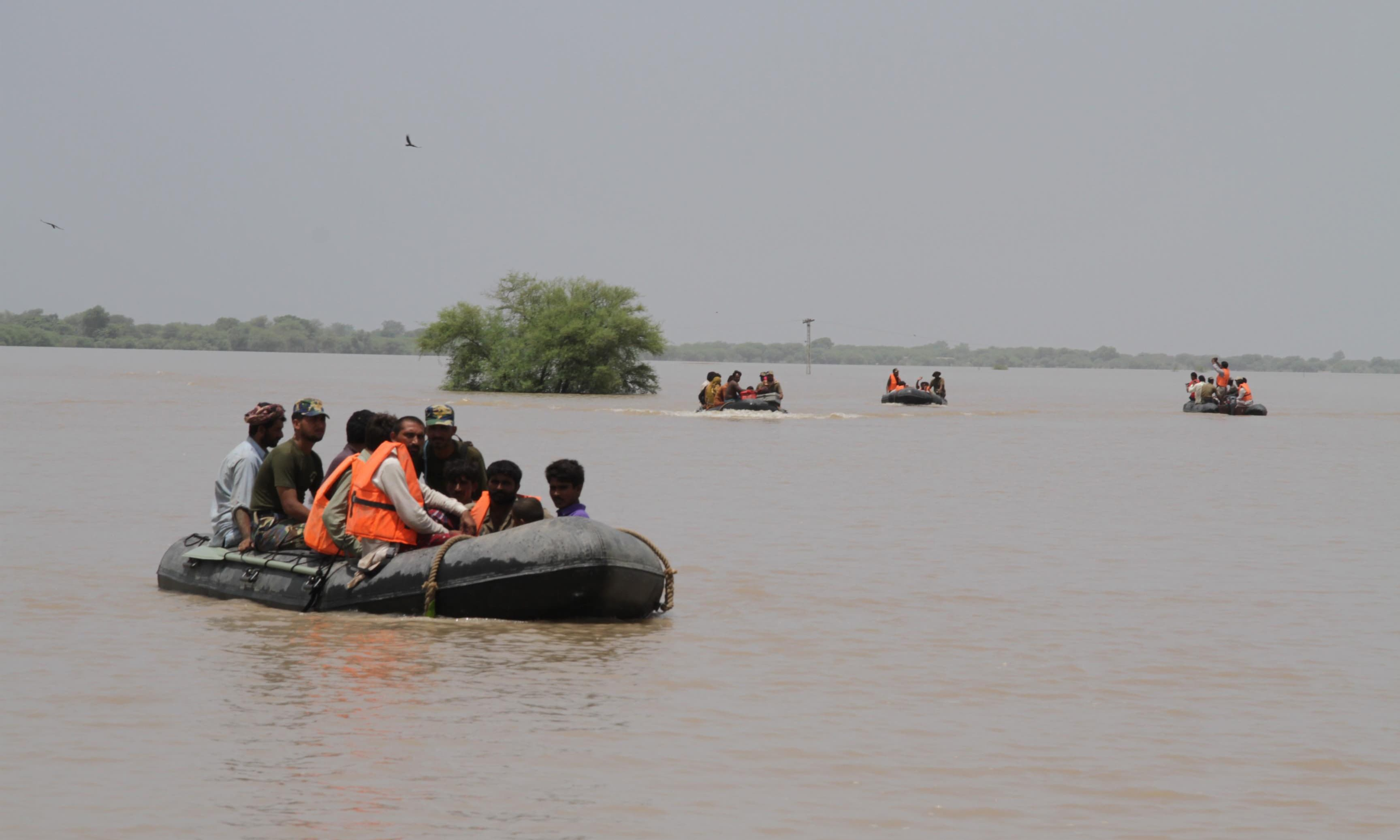 More than 700 flood affected people are being accommodated at Pakistan Navy's relief camp. —PN