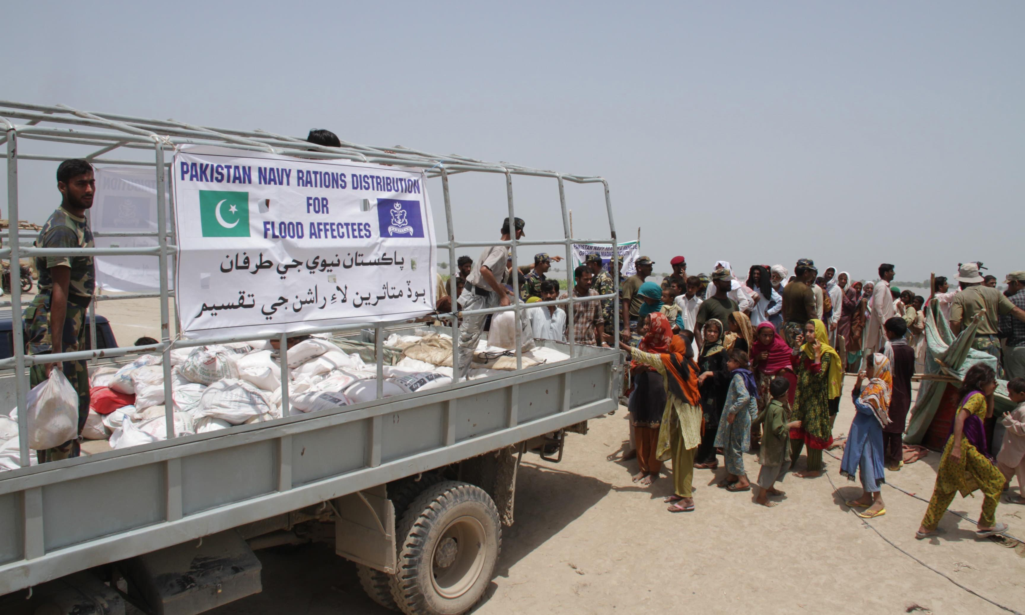 More than six tonnes of relief goods have been distributed among flood affected people. —PN