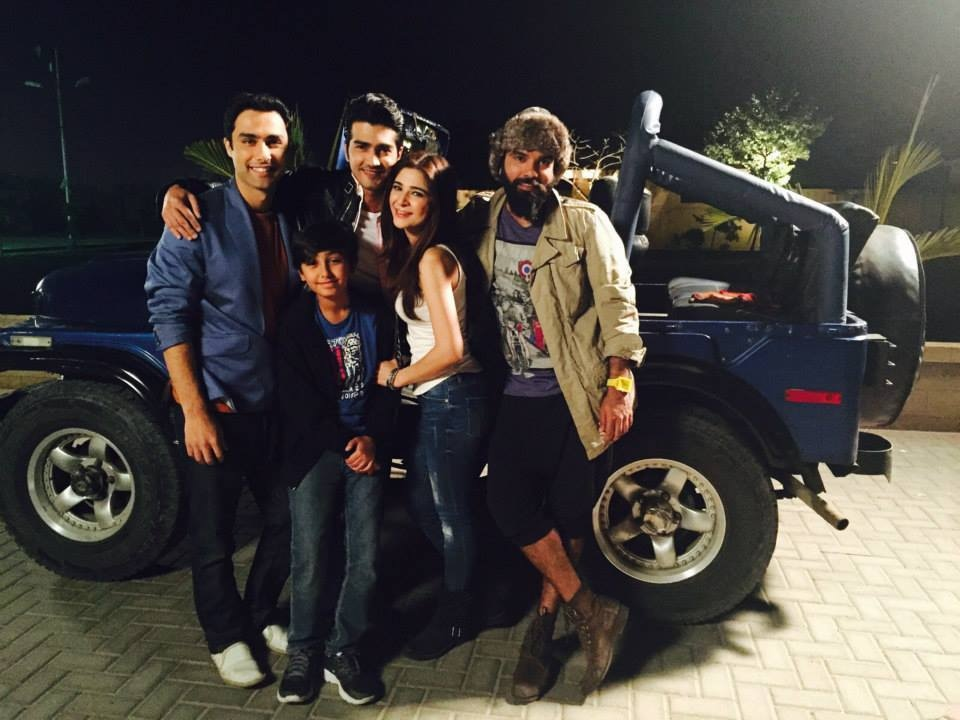 Ahmed Ali, Shehzad Sheikh and Yasir Hussain with Ayesha Omar and Aashir Wajahat