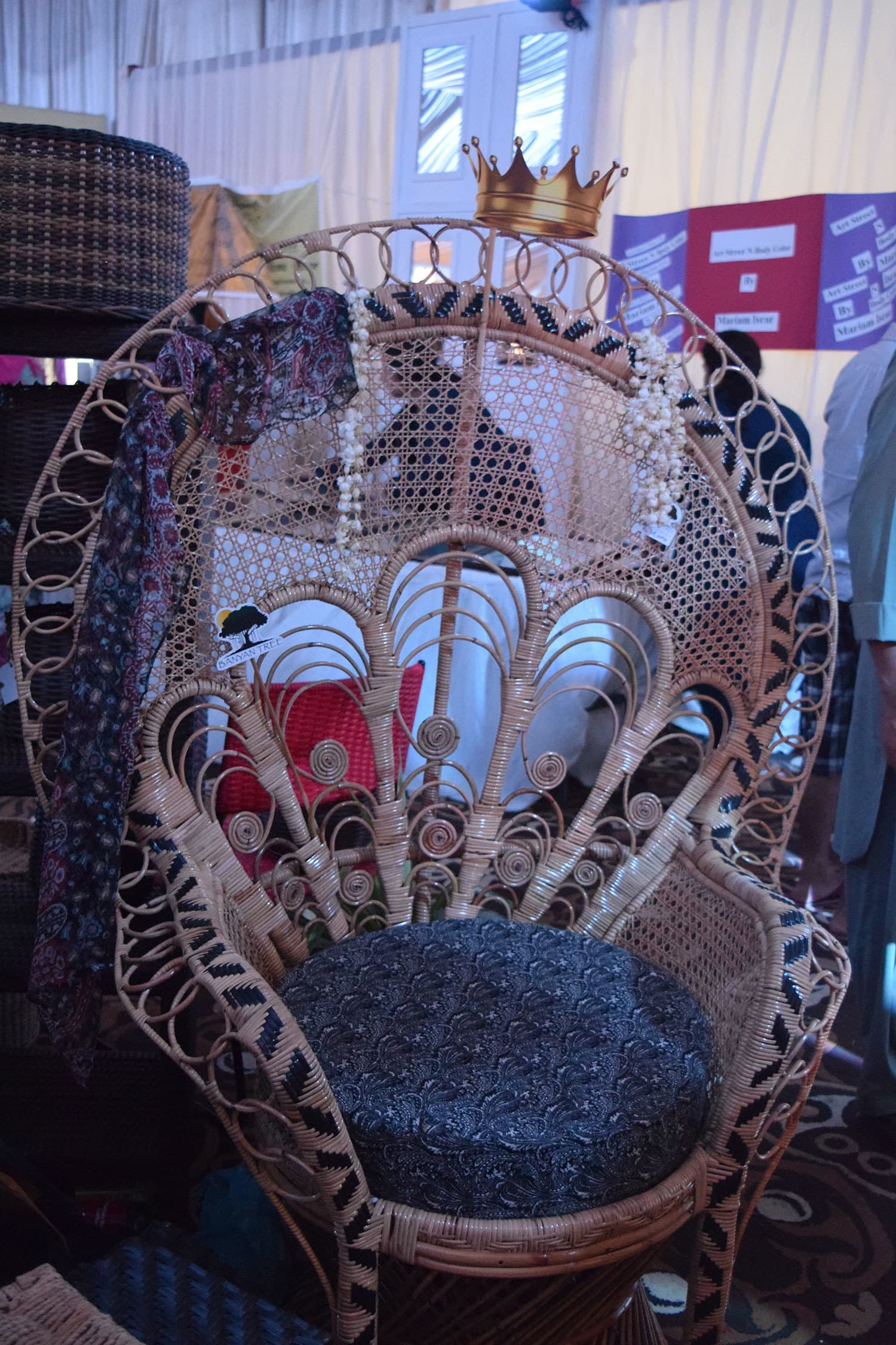 The Peacock chair. — Photo by Zoya Anwer