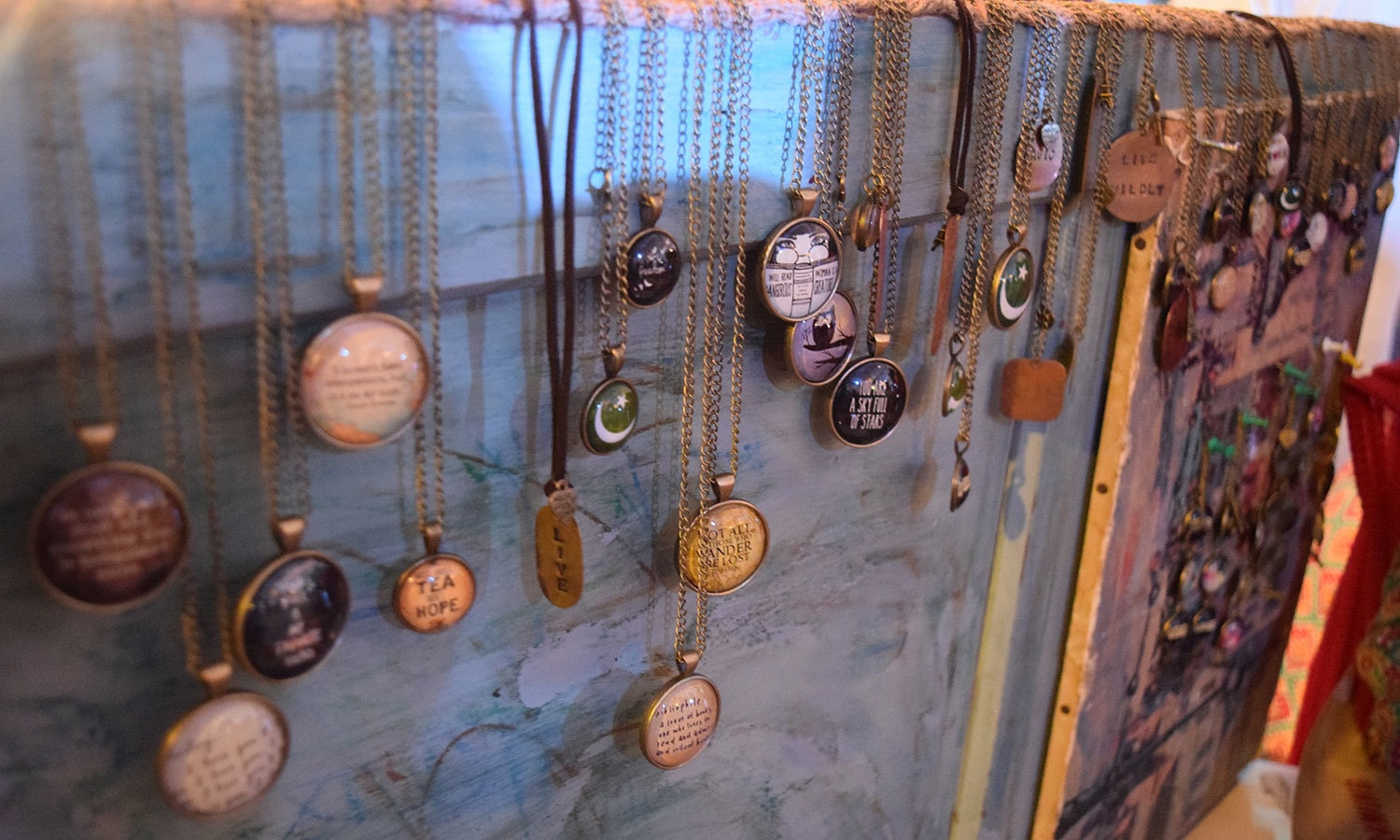 Pendents by Ifrah's Collection. — Photo by Zoya Anwer
