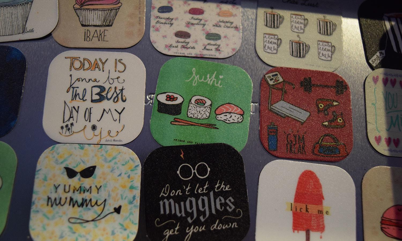 Assorted fridge magnets. — Photo by Zoya Anwer
