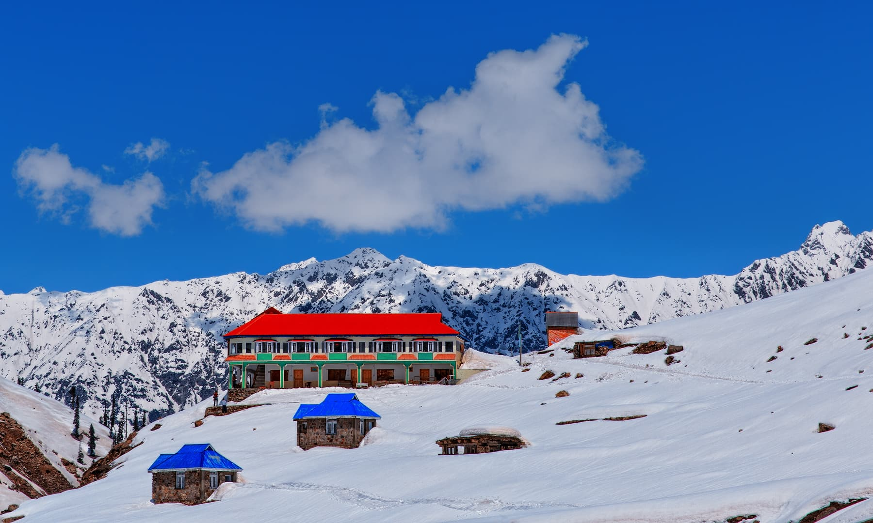 Hotels near the Lake Saif-ul-Malook.