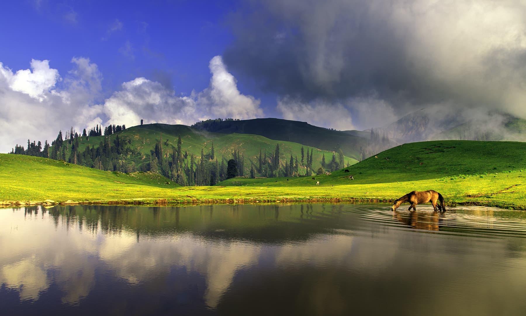پائے جھیل.— فوٹو سید مہدی بخاری