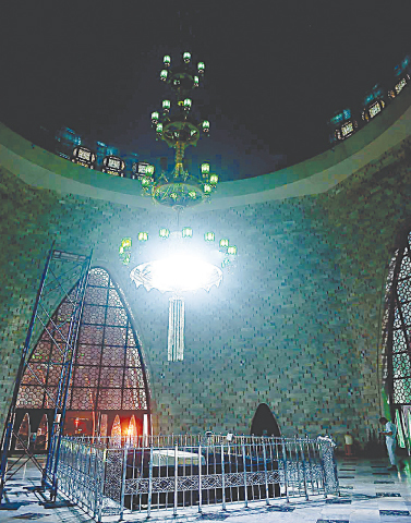 China to gift new chandelier for quaids mausoleum pakistan the four tier crystal chandelier which was gifted to pakistan by china and installed aloadofball Choice Image