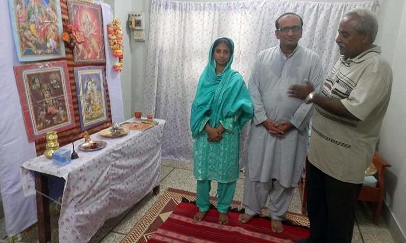 The author with Faisal Edhi and Geeta. —Mohsin Soomro