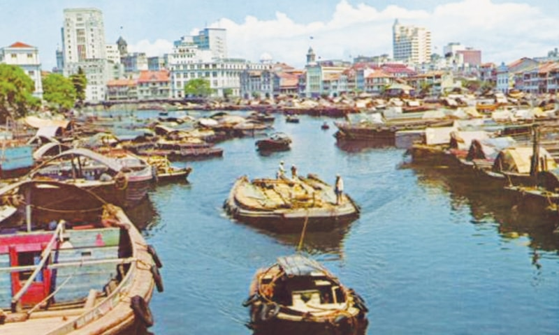 Singapore River in the 70s