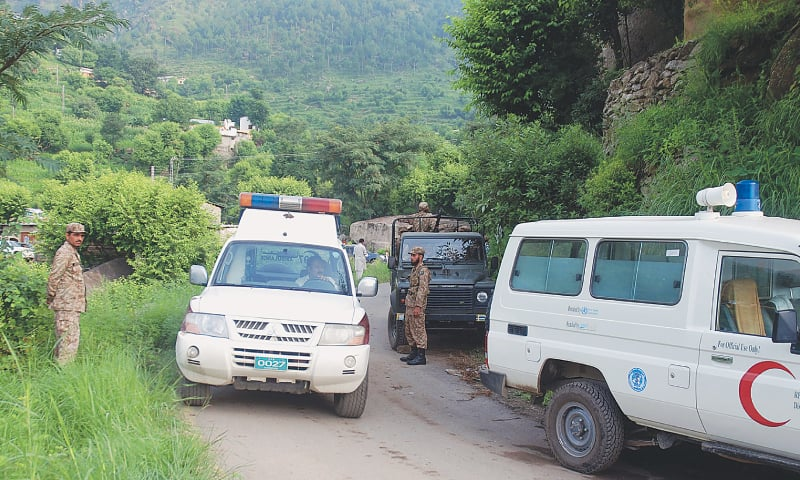 Bodies of 12 army men sent to CMH for DNA test - Pakistan - DAWN COM