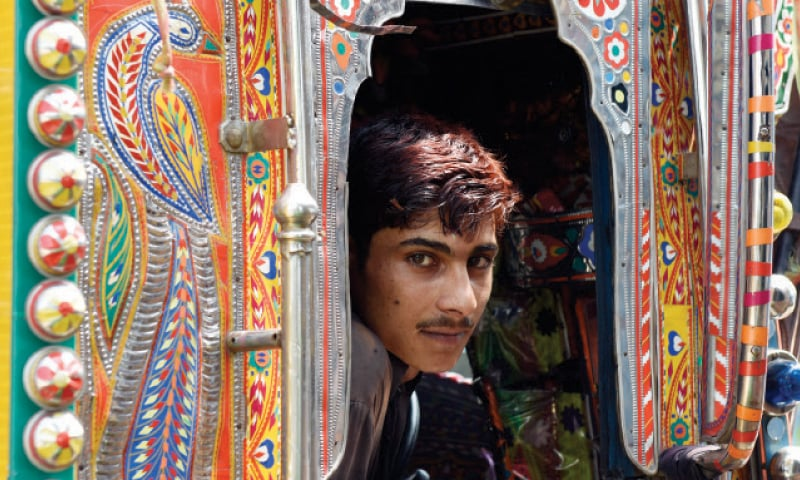 Mohammad Khan, 24, is one of the many truckers who spend a large amount of money embellishing their vehicles.
