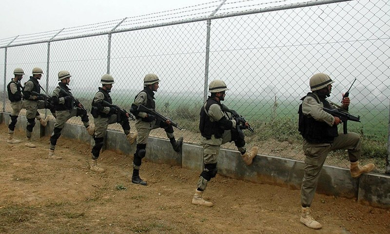 Earlier in August, 3 people were killed and at least 22 injured as Indian and Pakistani security forces exchanged fire in across the Working Boundary in Sialkot. ─ Online/File