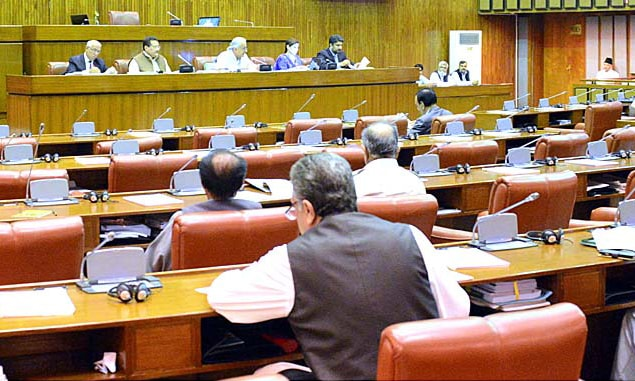 Defence minister piloted the bill to further amend the Pakistan Army Act, 1952. —APP