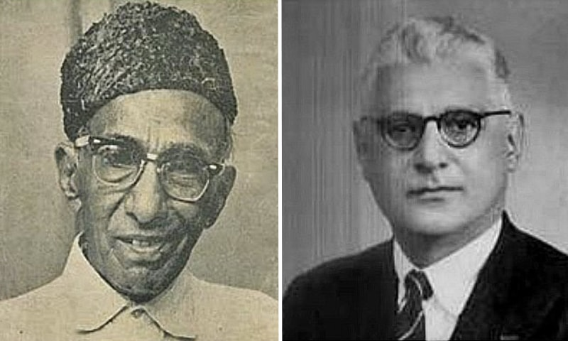 Left: Hafeez Jallandhri. Right: Ahmed Ghulam Ali Chagla