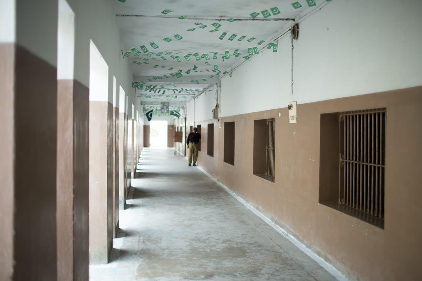 A corridor inside the Central Jail.