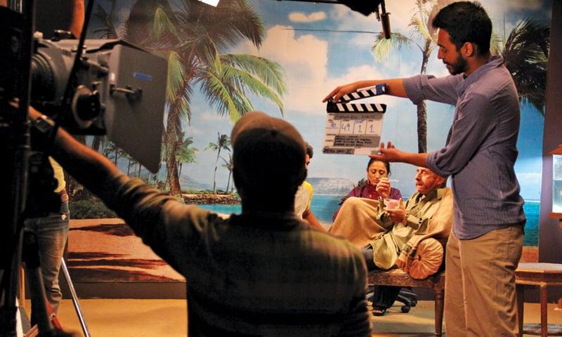 Naseeruddin Shah in character during the shoot of 'Zinda Bhaag'.