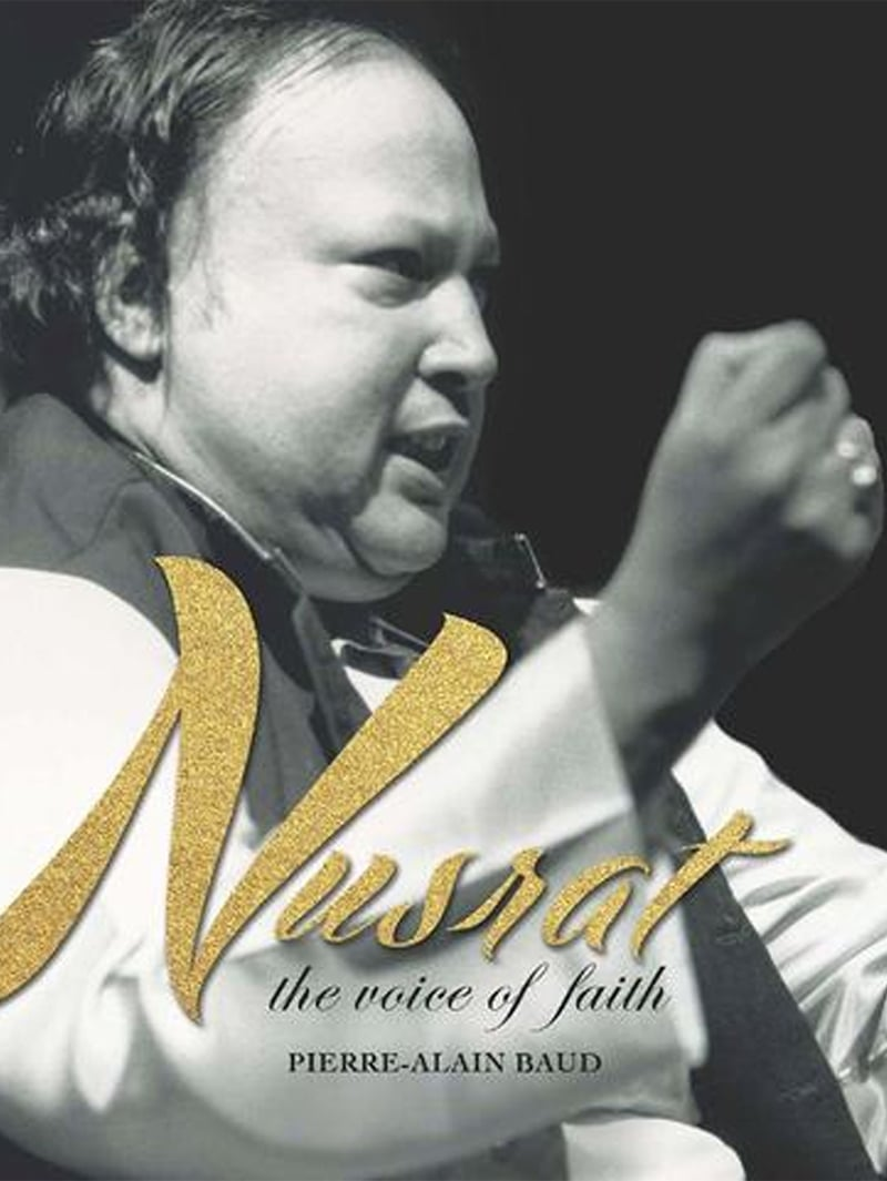 Book cover of Nusrat: The Voice of Faith by Pierre-Alain Baud