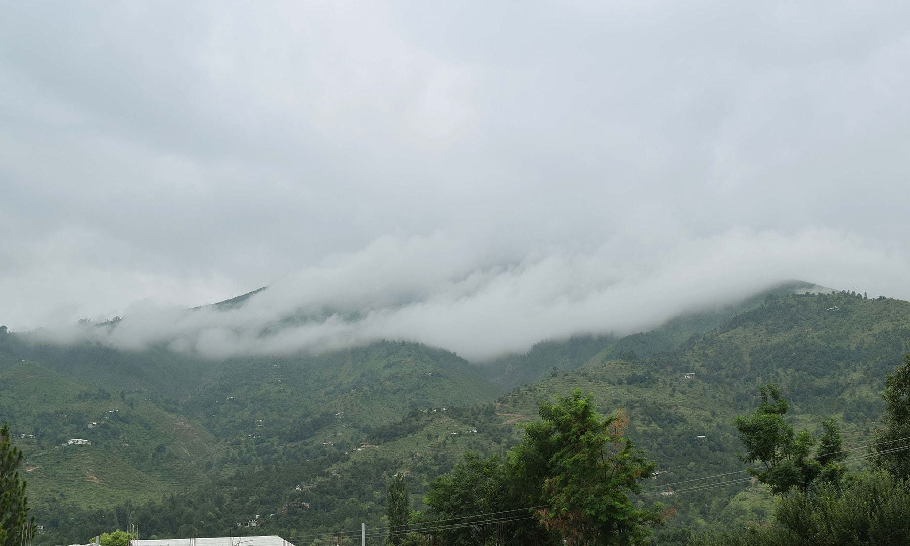 Gwalerai's cloud-covered mountains are called 'Awarai' by locals.