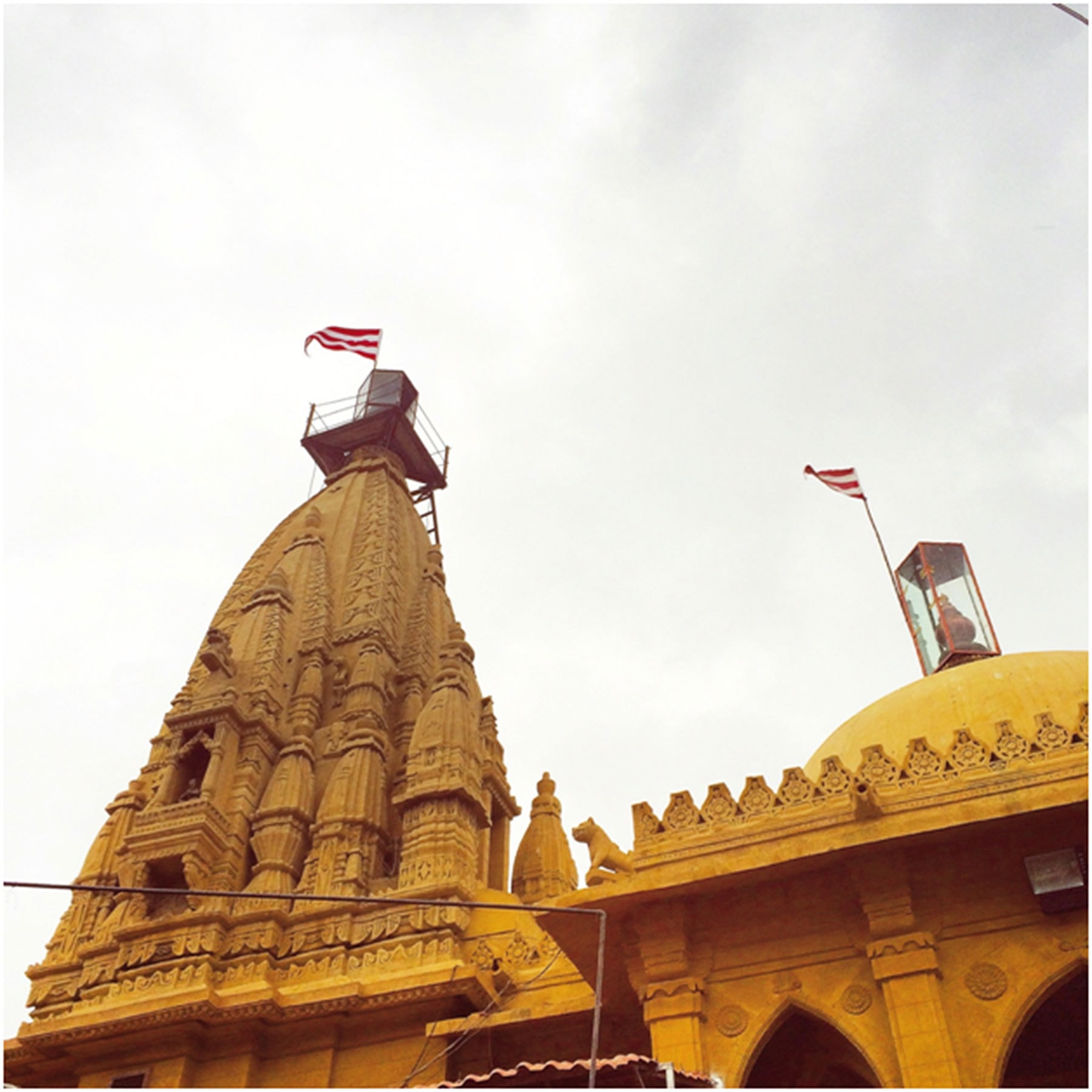 The Swaminarayan Hindu Temple also known as the Lighthouse Mandir.