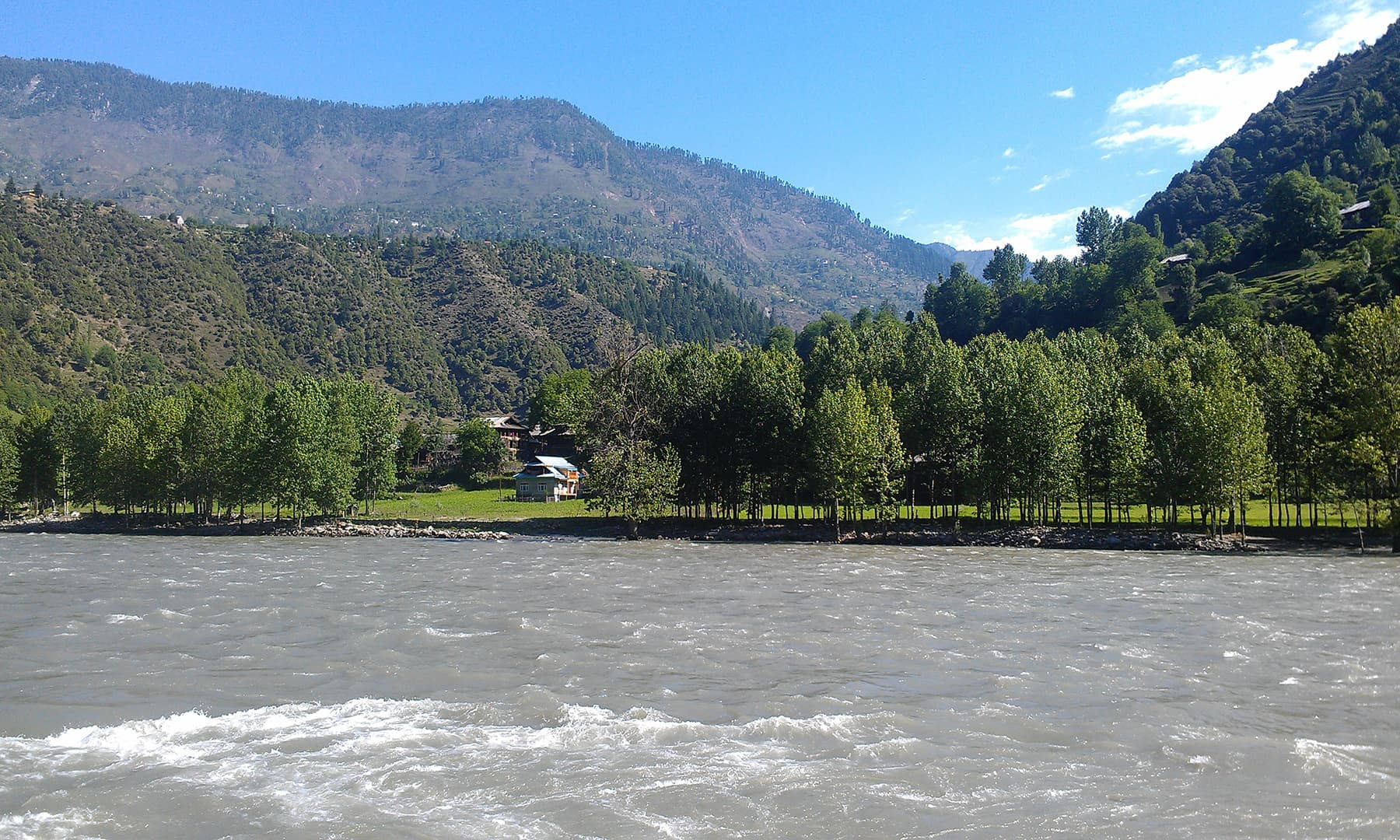 Neelum river in Keran.