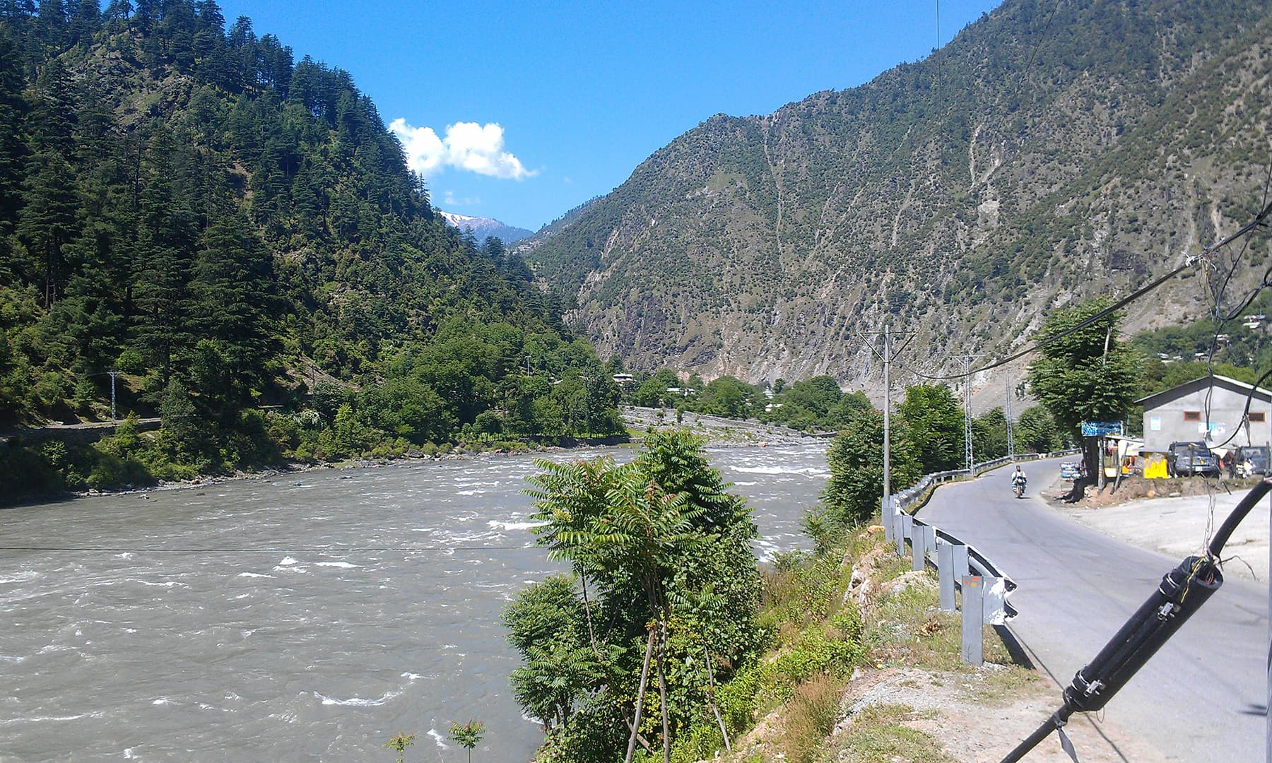 The river in Athmuqam.
