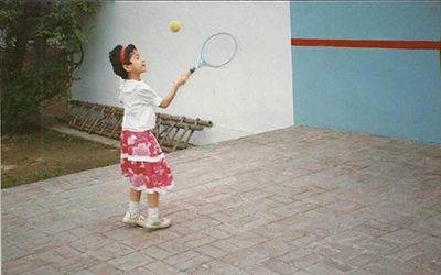 I have been playing tennis for as long as I can remember.