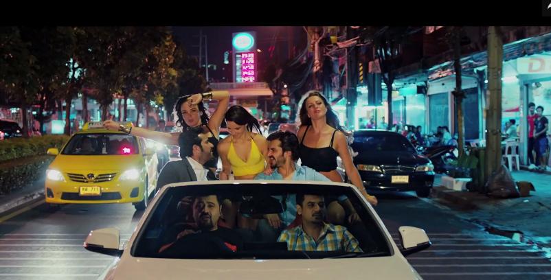 Hamza Ali Abbasi, Humayun Saeed, Ahmad Ali Butt and Vasay Chaudhry in a still from the film