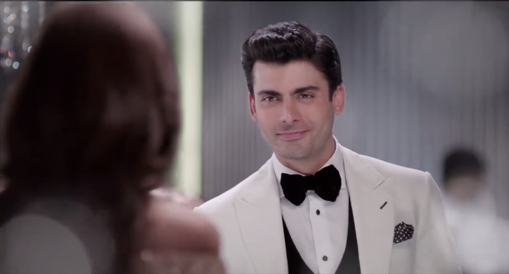 Fawad looks dapper in a white jacket