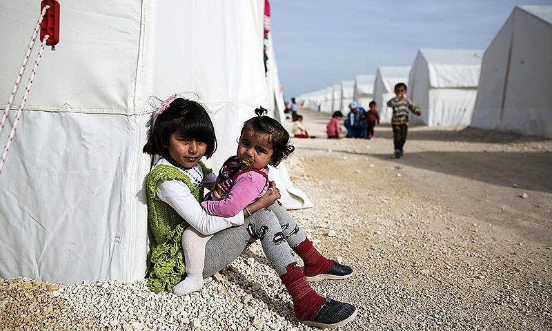 Syrian refugee children. —AP