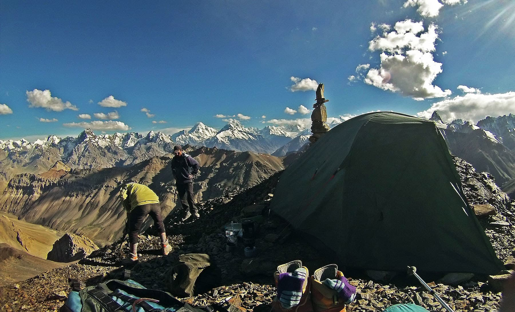 The view from the high camp was simply out of this world.