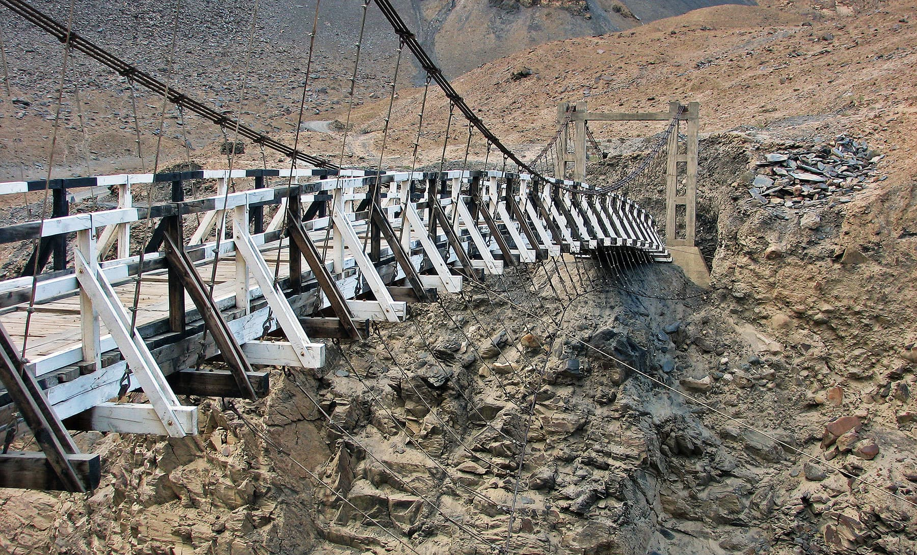 There are quite a few hanging bridges on the Shimshal-Passu jeep road.