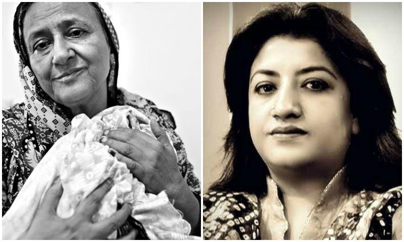 Bilquis Edhi (L), Hina Dilapzeer (R)