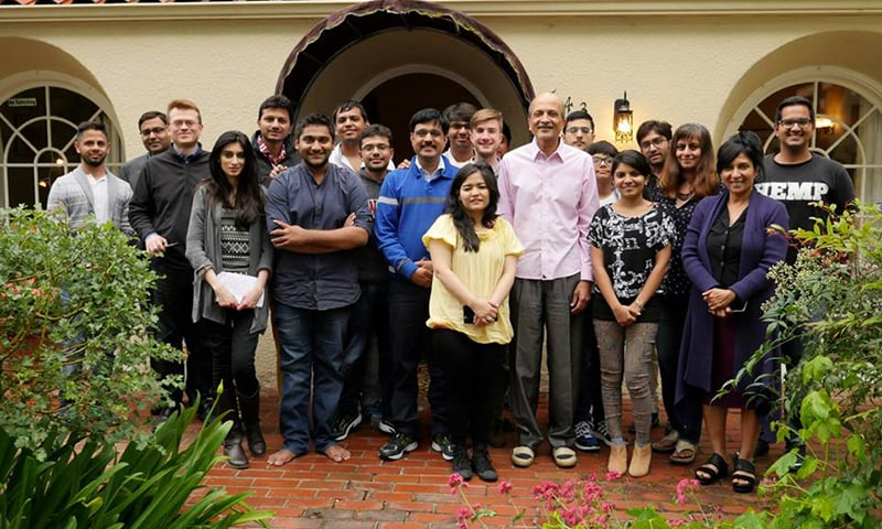 Asha Jadeja with RC Fellows in Palo Alto
