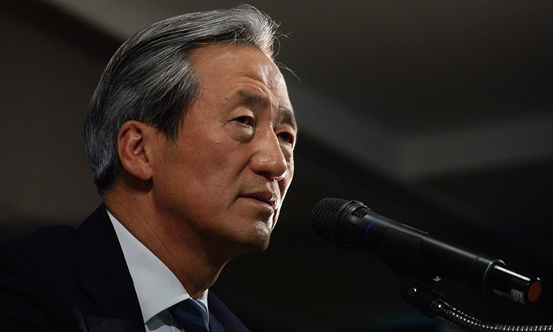 Former FIFA vice president and powerbroker of Asian football, Chung Mong-Joon, speaks during a press conference in Seoul on June 3, 2015. — AFP/File