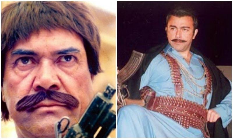 Sultan Rahi (L), Shaan Shahid (R)