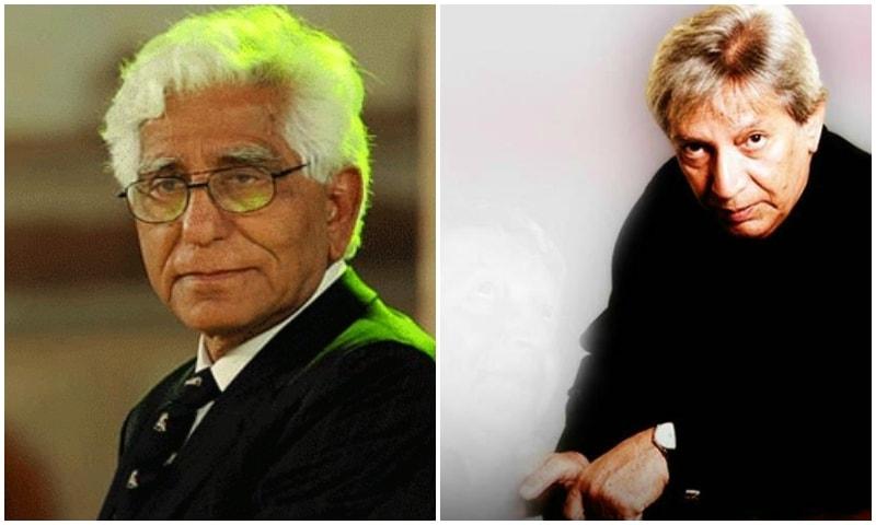 Adeeb Rizvi (L), Talat Hussain (R)