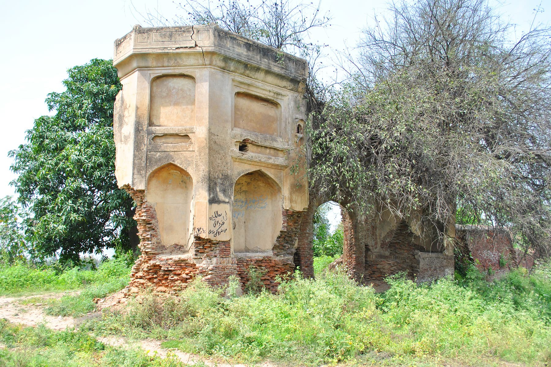 Ruins of a walled garden in south of Eminabad.