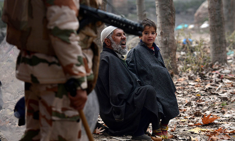 It is first time that a Kashmiri militant group has used social media to directly address the youth to take up arms. -AFP/File