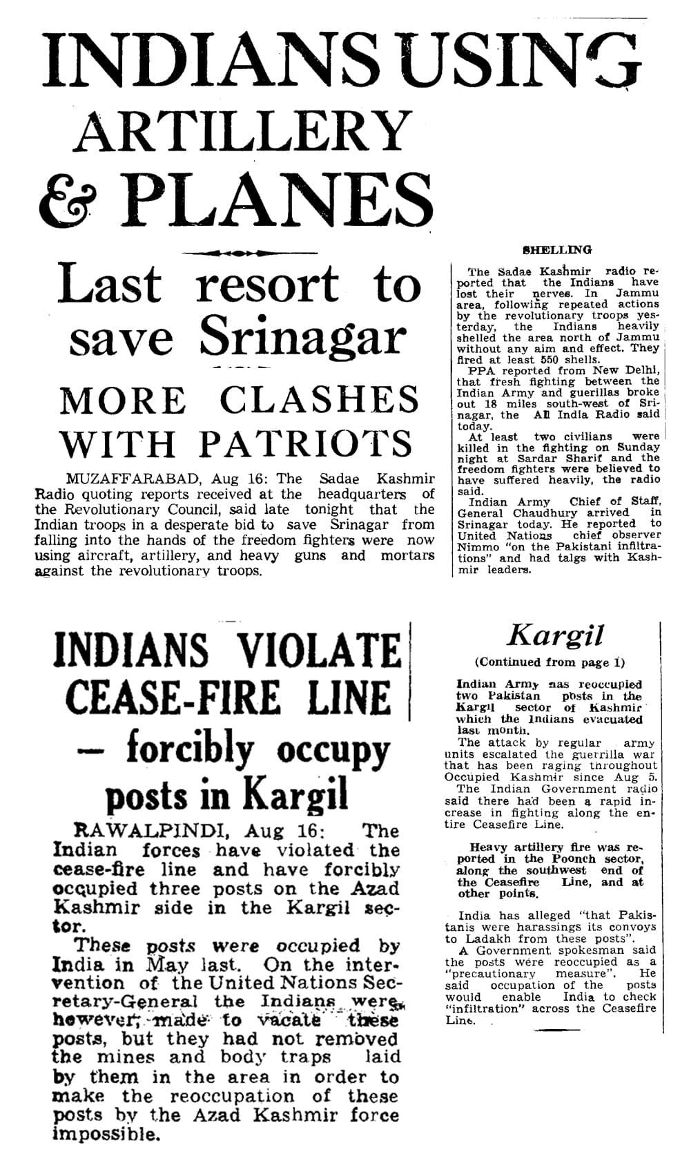 Pakistan launches Operation Gibraltar, Kashmir announces Liberation