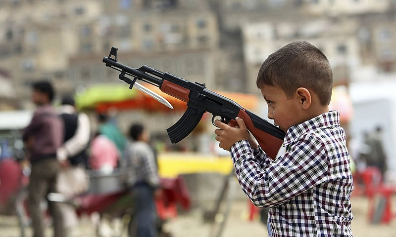 These real-looking guns in the hands of our children must not be taken lightly. —AP