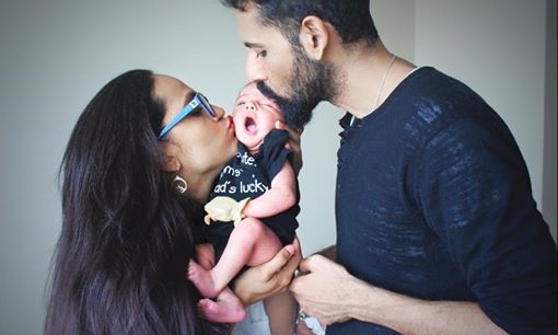 Born on August 11, Meissa Mirza is the firstborn of the star couple who have been married for 10 years — Photo courtesy Aamina Sheikh's Facebook