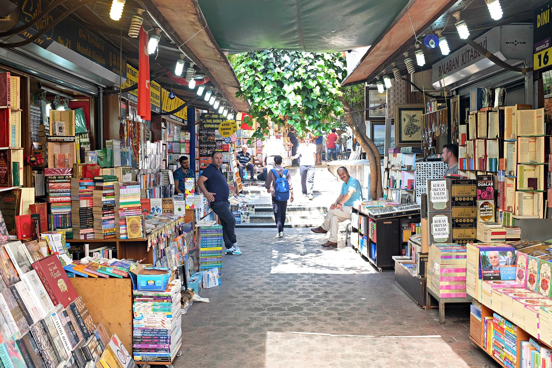 The Book Market is a favourite with locals.