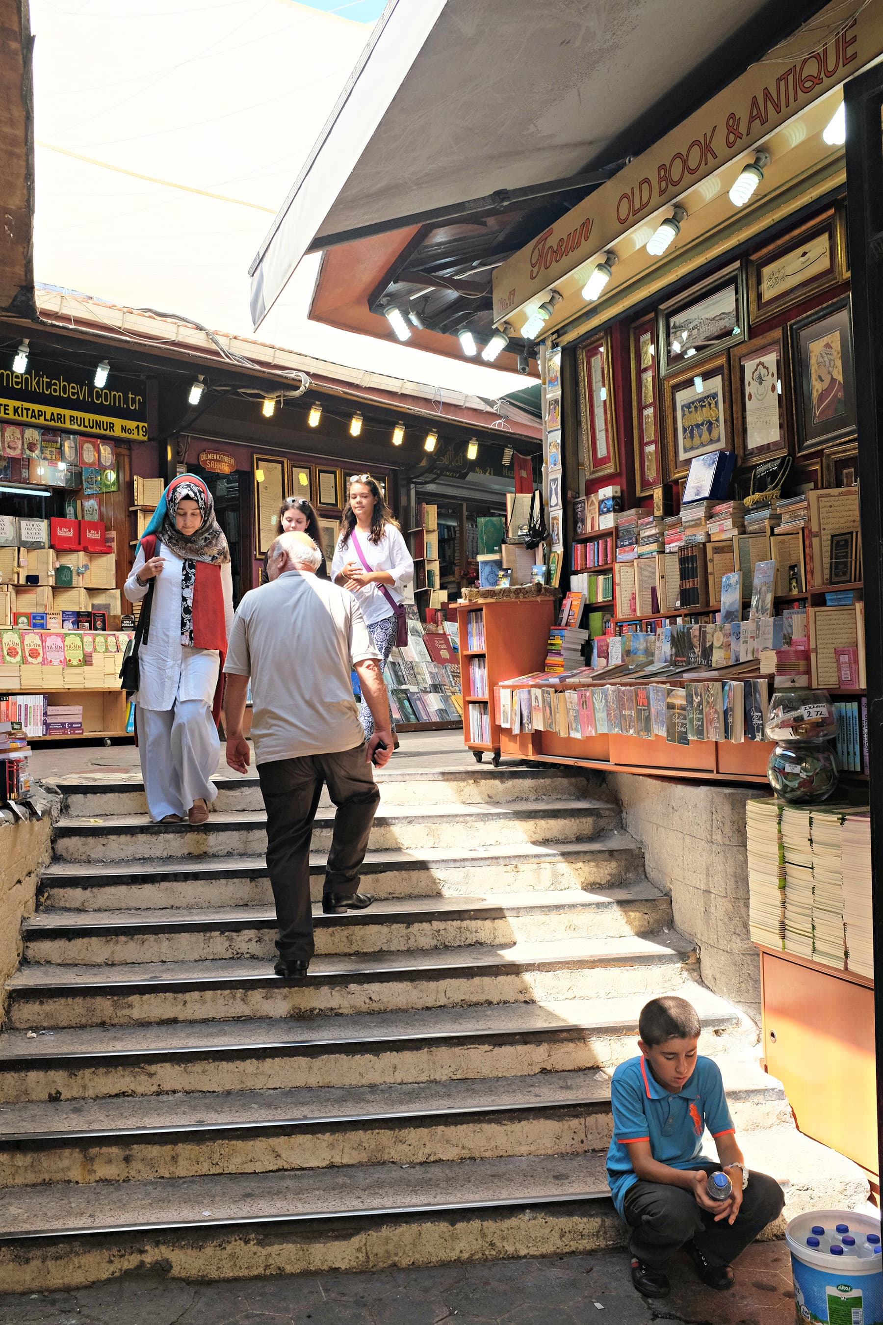 Layla takes us to the book market which is accessible from Grand Bazaar entrance.