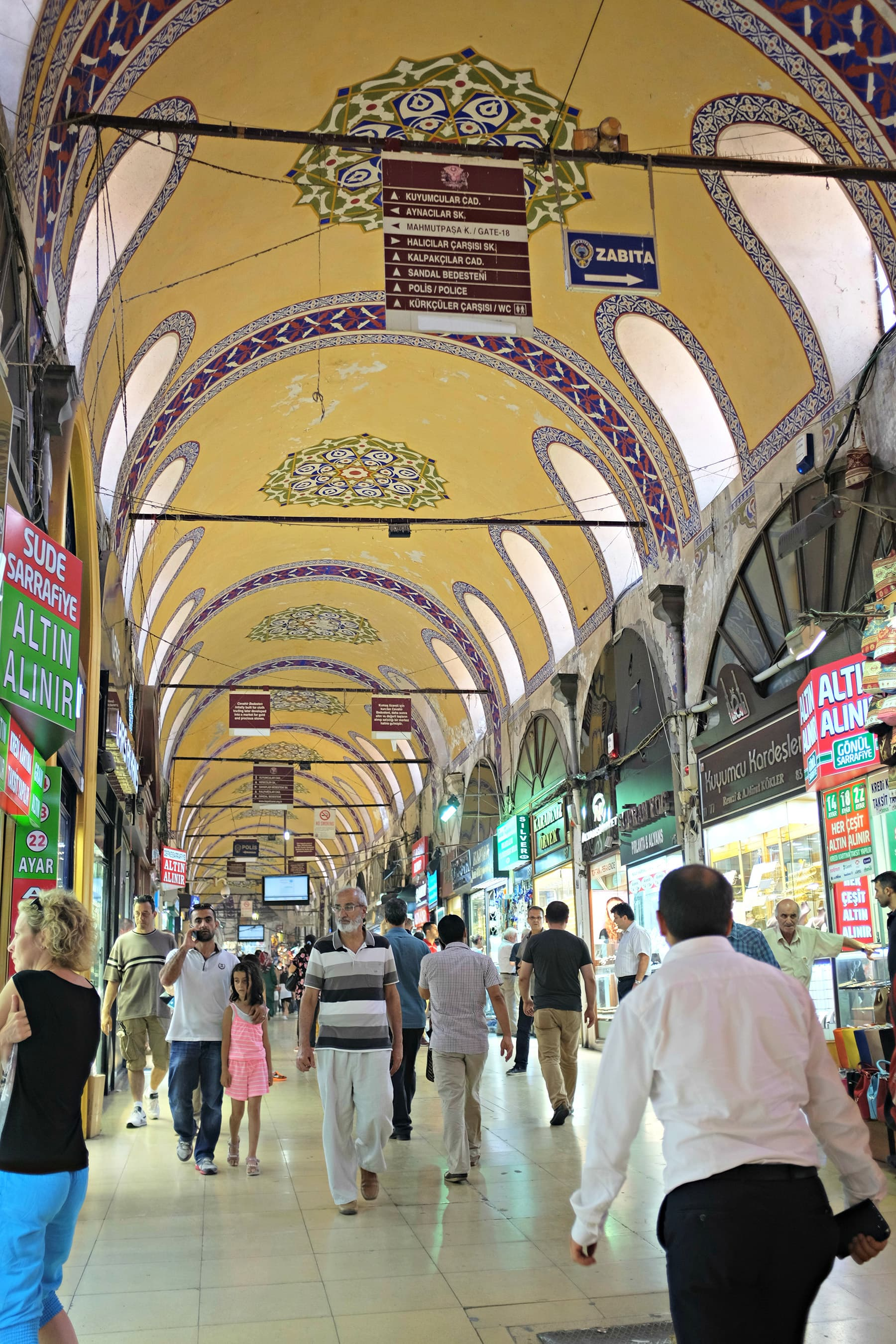 The narrow lanes of Grand Bazaar are a delight to walk in.