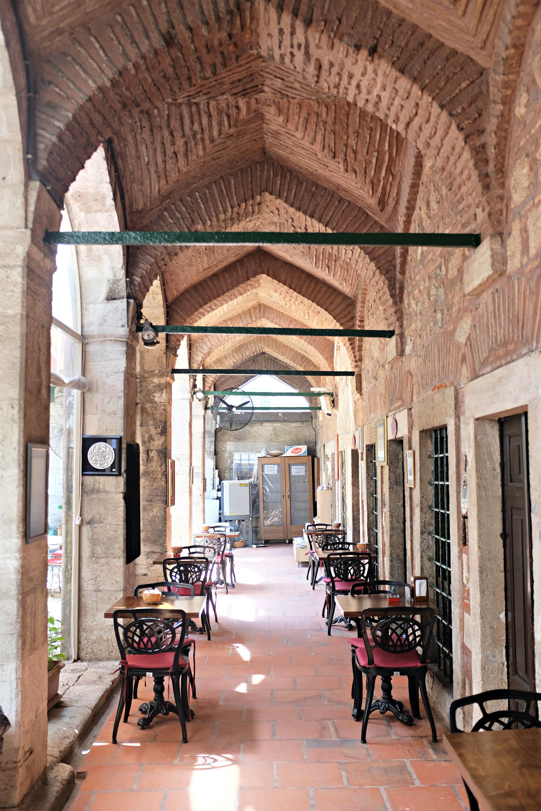 Caferaga Madrasa was a Madrassah of Ottoman era which has been converted into a restaurant and handicrafts shop.