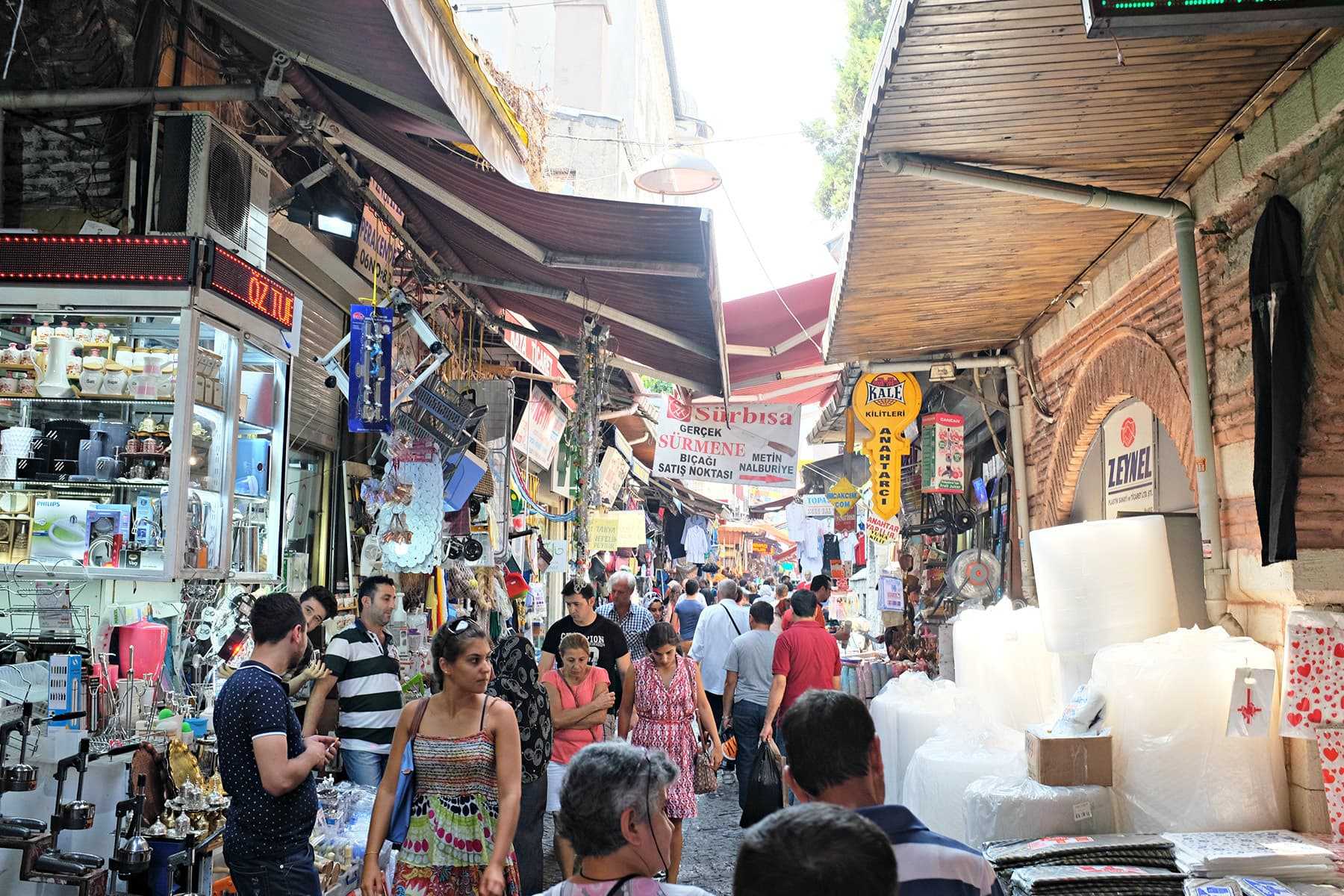 The route to Rustem Pasha is through Straw weavers Market.